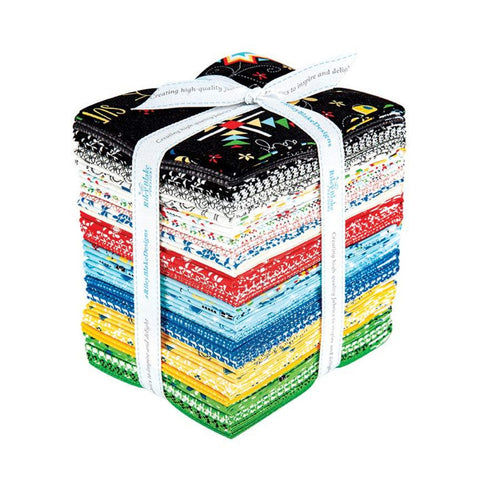 SALE Oh Happy Day! Fat Quarter Bundle 34 pieces - Riley Blake - Pre cut Precut - Sandy Gervais - Quilting Cotton Fabric - Free US Shipping