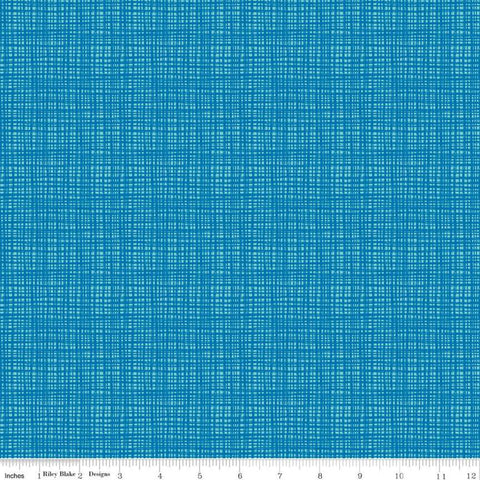 SALE Oh Happy Day! Texture C10319 Cerulean - Riley Blake Designs - Tone-on-Tone Irregular Grid Blue - Quilting Cotton Fabric