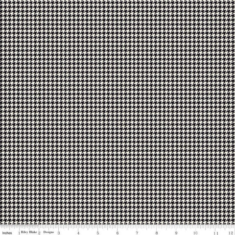 SALE Oh Happy Day! Checks C10315 Black - Riley Blake Designs - Geometric Houndstooth Checkered Cream - Quilting Cotton Fabric