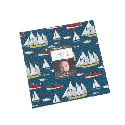 "Lakeside Story Layer Cake 10"" Stacker Bundle - Moda Fabrics - 42 piece Precut Pre cut - Great Lakes Outdoors - Quilting Cotton Fabric"