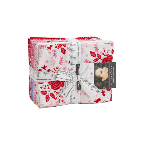 Be Mine Fat Quarter Bundle 19 pieces - Moda Fabrics - Pre cut Precut- Valentine's Day Valentine Valentines - Quilting Cotton Fabric