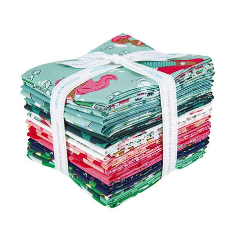 SALE Ahoy! Mermaids Fat Quarter Bundle 21 pieces - Riley Blake Designs - Pre cut Precut - Children's - Quilting Cotton Fabric