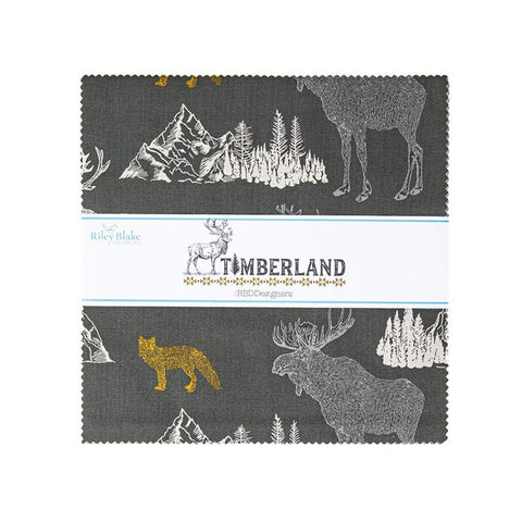 "SALE Timberland Layer Cake 10"" Stacker Bundle - Riley Blake Designs - 42 piece Precut Pre cut - Outdoors - Quilting Cotton Fabric"