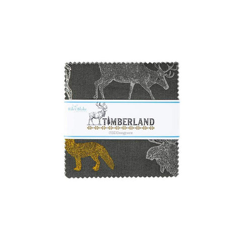 "SALE Timberland Charm Pack 5"" Stacker Bundle - Riley Blake Designs - 42 piece Precut Pre cut - Outdoors - Quilting Cotton Fabric"