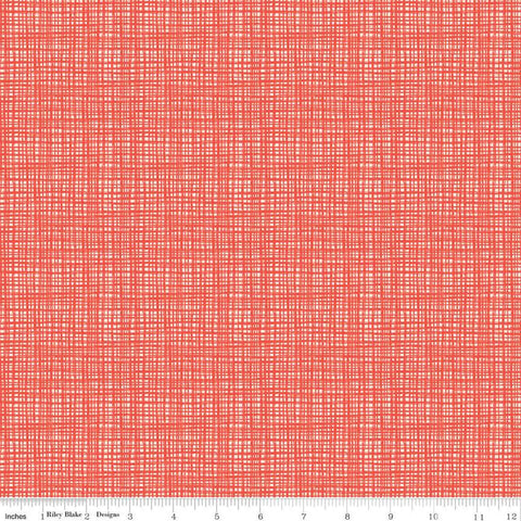 SALE Oh Happy Day! Texture C10319 Poppy - Riley Blake Designs - Tone-on-Tone Irregular Grid Red - Quilting Cotton Fabric