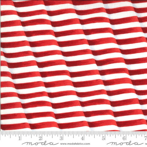 America the Beautiful Weaving Stripes 19985 Barnwood Red - Moda Fabrics - Patriotic Americana Striped - Deb Strain - Quilting Cotton Fabric
