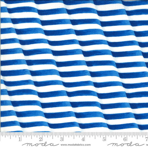 America the Beautiful Weaving Stripes 19985 Lake Blue - Moda Fabrics - Patriotic Americana Striped - Deb Strain - Quilting Cotton Fabric
