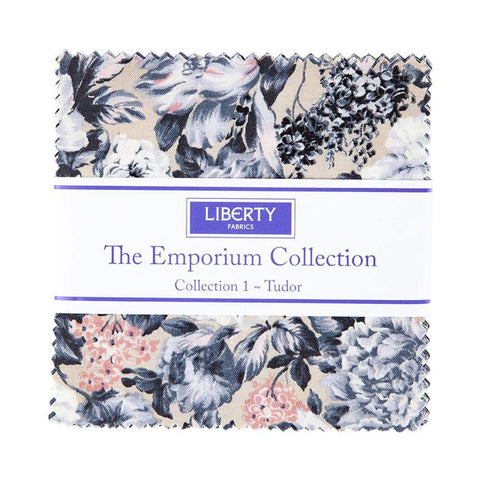 "SALE The Emporium Collection 1 Tudor Charm Pack 5"" Stacker Bundle - Riley Blake Designs - 42 piece Precut Pre cut - Quilting Cotton Fabric"