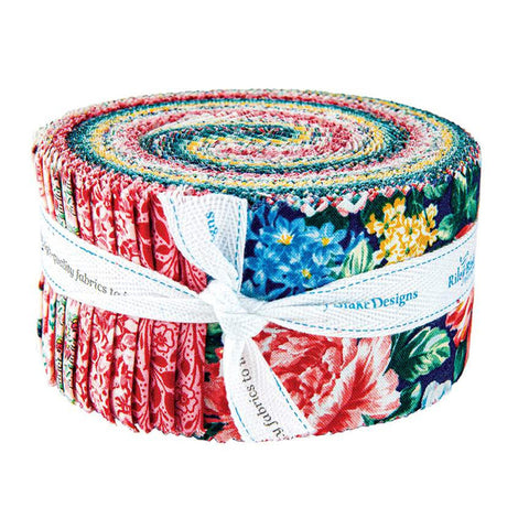 SALE The Emporium Collection 2 Merchant Brights 2.5-Inch Rolie Polie Jelly Roll 40 pieces Riley Blake - Precut Bundle - Cotton Fabric
