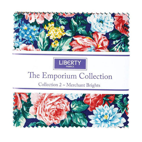 "The Emporium Collection 2 Merchant Brights Charm Pack 5"" Stacker Bundle  - Riley Blake - 42 piece Precut Pre cut - Cotton Fabric"