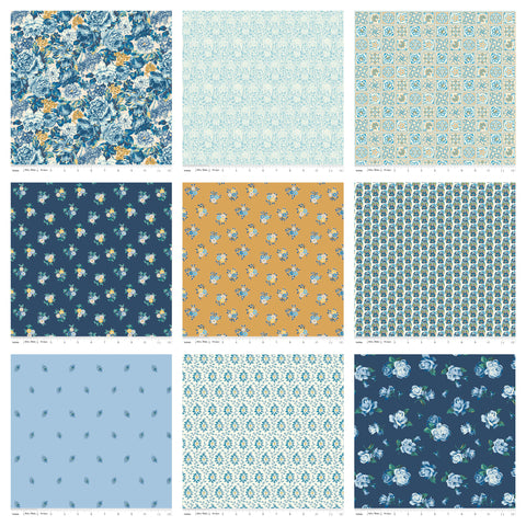 The Emporium Collection 3 Discovery Fat Quarter Bundle 15 pieces - Riley Blake - Pre cut Precut - Quilting Cotton Fabric