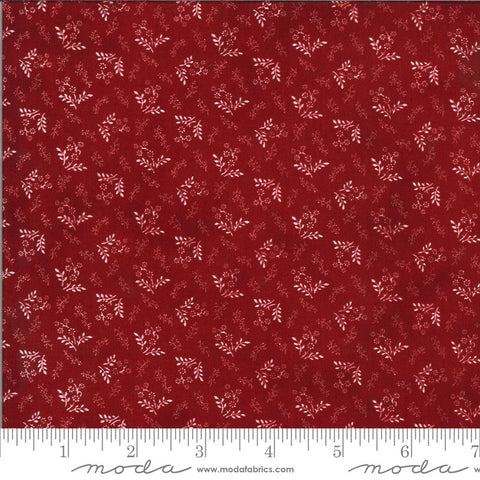 American Gathering Laurel Leaf 49122 Red - Moda Fabrics - Americana Patriotic Floral Sprigs Leaves - Quilting Cotton Fabric
