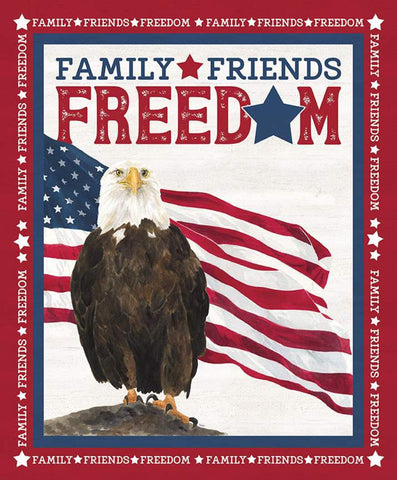 SALE Let Freedom Soar Family, Friends and Freedom Panel  P10523 by Riley Blake Designs - Patriotic Eagle Off White - Quilting Cotton Fabric