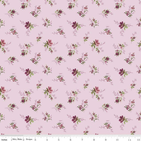 Anne of Green Gables Bouquet C10602 Lavender - Riley Blake Designs - Floral Flowers Sprigs Purple - Quilting Cotton Fabric - Choose Cut