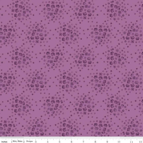 Anne of Green Gables Blossom C10605 Orchid - Riley Blake Designs - Floral Flowers Tone-on-Tone Purple - Quilting Cotton