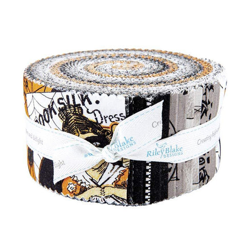 SALE Old Made 2.5 Inch Rolie Polie Jelly Roll 40 pieces  - Riley Blake Designs - Precut Pre cut Bundle - Halloween Sewing - Quilting Cotton