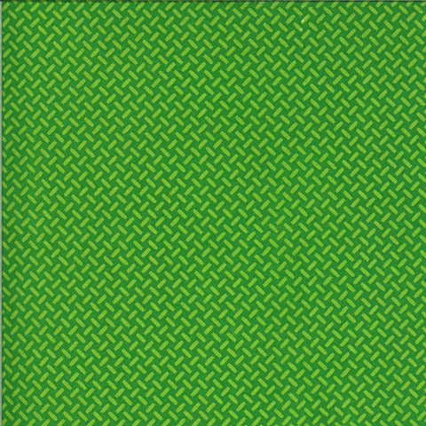 On the Go Eat My Tread 2078 Green Light - Moda Fabrics - Tracks Geometric Juvenile - Quilting Cotton Fabric