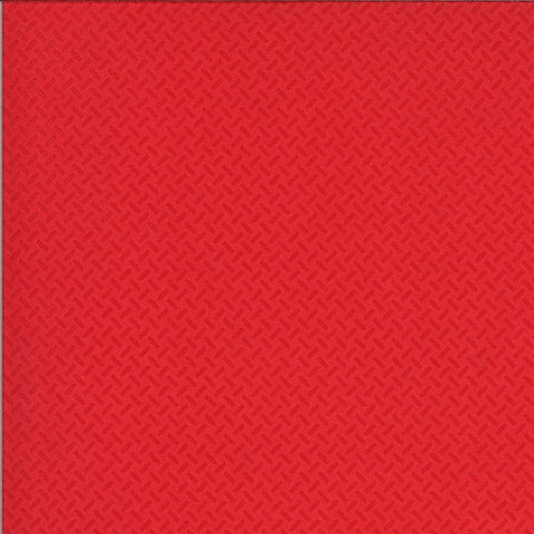On the Go Eat My Tread 2078 Red Light - Moda Fabrics - Tracks Geometric Juvenile - Quilting Cotton Fabric