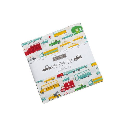 "On the Go Charm Pack 5"" Stacker Bundle - Moda Fabrics - 42 piece Precut Pre cut - Children's Juvenile - Quilting Cotton Fabric"