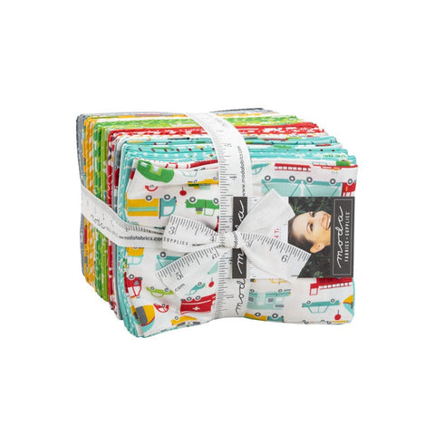 On the Go Fat Quarter Bundle 36 pieces - Moda Fabrics - Pre cut Precut - Children's Juvenile - Quilting Cotton Fabric - Free US Shipping