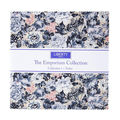 "SALE The Emporium Collection 1 Tudor Layer Cake 10"" Stacker Bundle - Riley Blake Designs - 42 piece Precut Pre cut - Quilting Cotton Fabric"