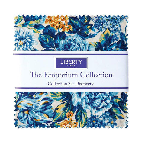 "The Emporium Collection 3 Discovery Charm Pack 5"" Stacker Bundle  - Riley Blake - 42 piece Precut Pre cut - Quilting Cotton Fabric"