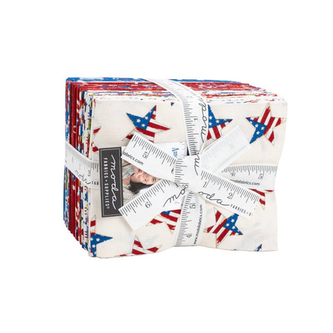 America the Beautiful Fat Quarter Bundle 25 pieces - 19980 - Moda Fabrics - Pre cut Precut - Patriotic Americana - Quilting Cotton Fabric