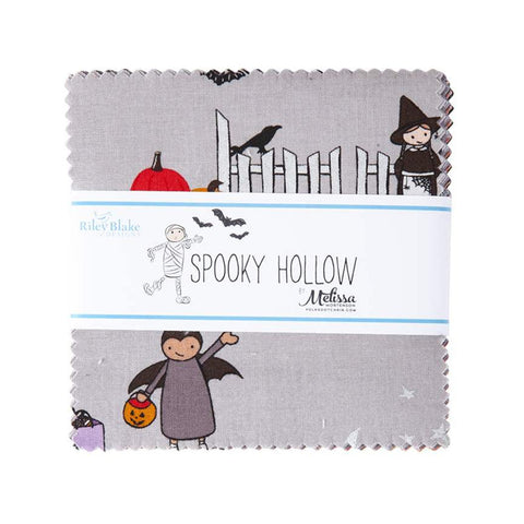 "SALE Spooky Hollow Charm Pack 5"" Stacker Bundle - Riley Blake Designs - 42 piece Precut Pre cut - Halloween - Quilting Cotton Fabric"