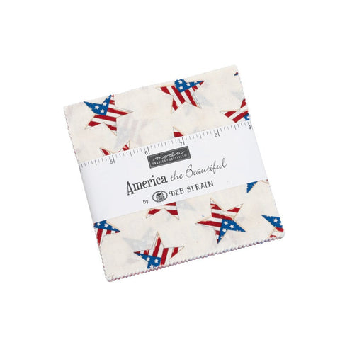 "America the Beautiful Charm Pack 5"" Stacker Bundle - 19980 - Moda Fabrics - 42 piece Precut Pre cut - Patriotic - Quilting Cotton Fabric"