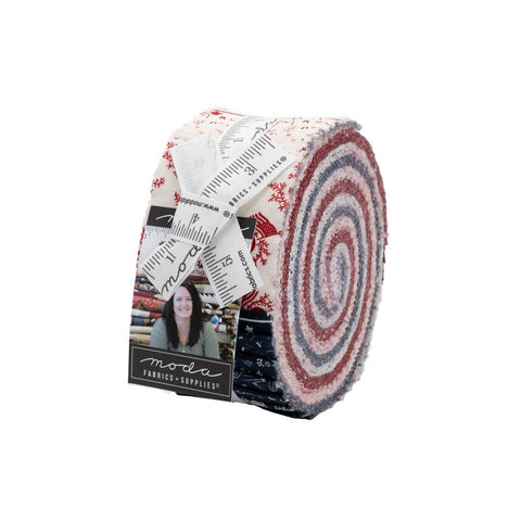 American Gathering 2.5-Inch Jelly Roll Rolie Polie 40 pieces - 49120 - Moda Fabrics - Precut Bundle - Patriotic - Quilting Cotton Fabric