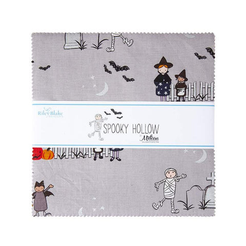 "SALE Spooky Hollow Layer Cake 10"" Stacker Bundle - Riley Blake Designs - 42 piece Precut Pre cut - Halloween - Quilting Cotton Fabric"
