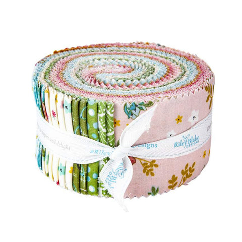 SALE Stardust 2.5-Inch Rolie Polie Jelly Roll 40 pieces - Riley Blake Designs - Precut Bundle - Gold SPARKLE - Quilting Cotton Fabric