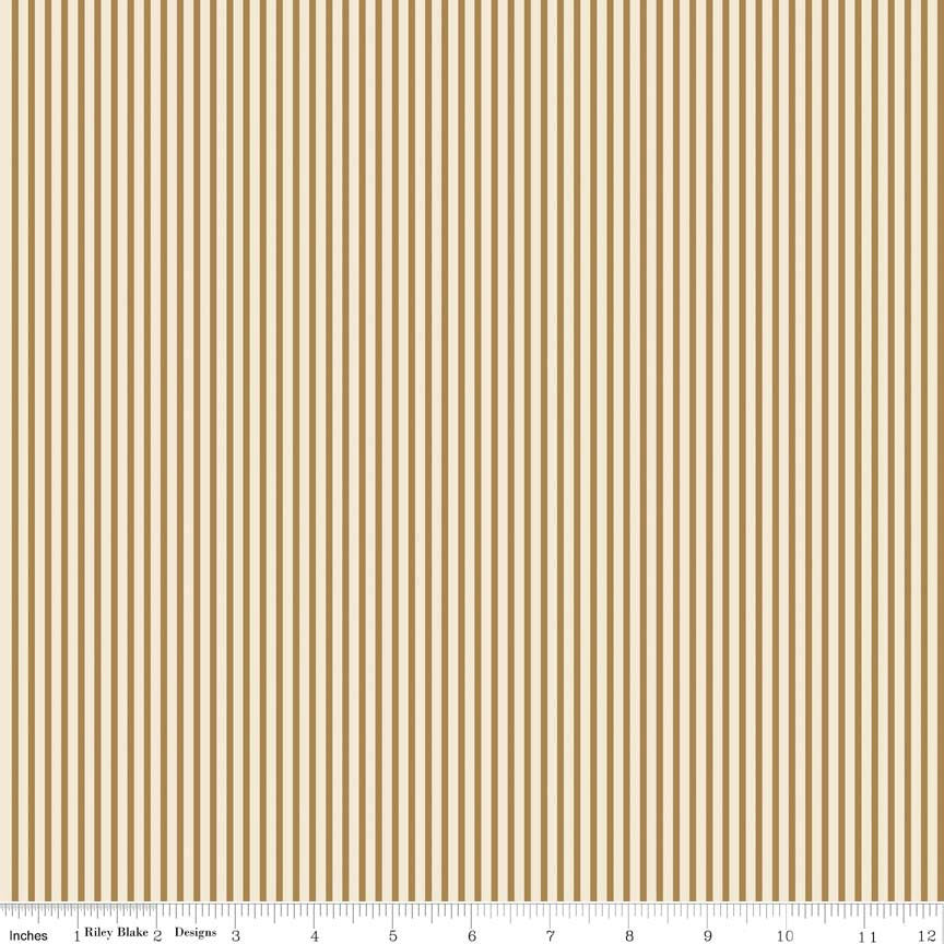 SALE Postcards for Santa Stripe Gold SPARKLE by Riley Blake Designs - Metallic - Quilting Cotton Fabric - choose your cut