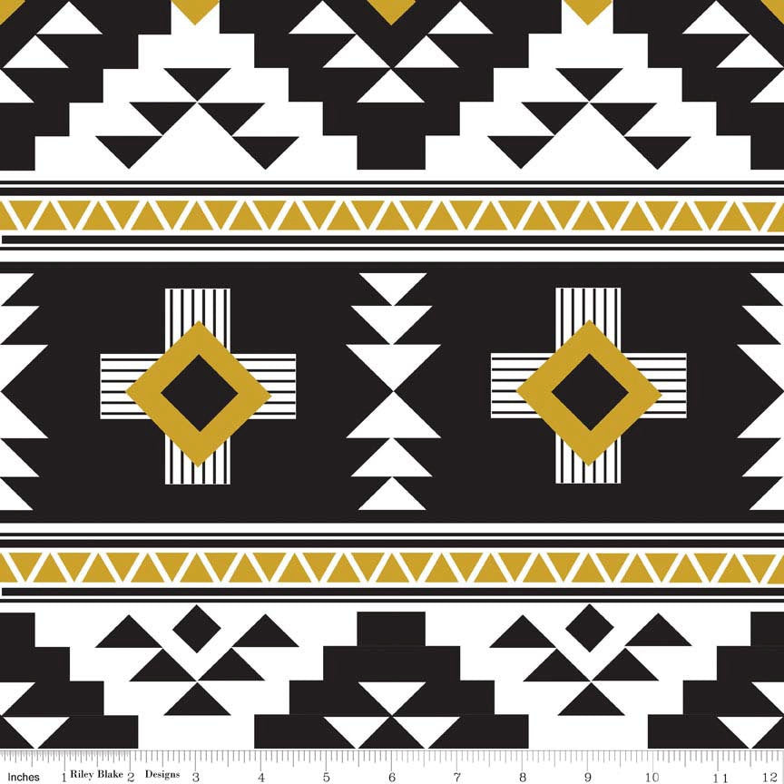 Four Corners Main Black by Riley Blake Designs K4870 - Aztec - Jersey KNIT cotton stretch fabric