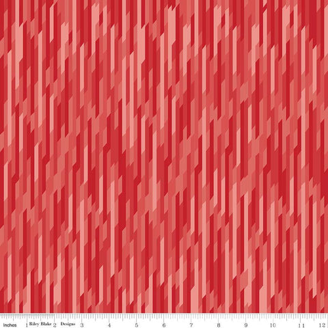 CLEARANCE Desert Bloom Stripe Red by Riley Blake Designs - Tone on tone - Jersey KNIT cotton lycra stretch fabric - by the yard