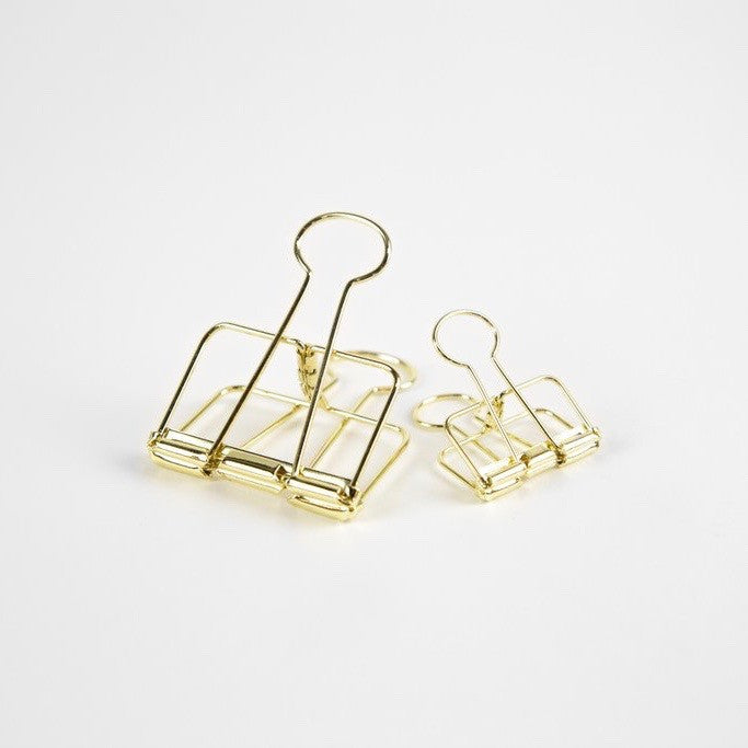 Gold Bulldog Clip Large and Small