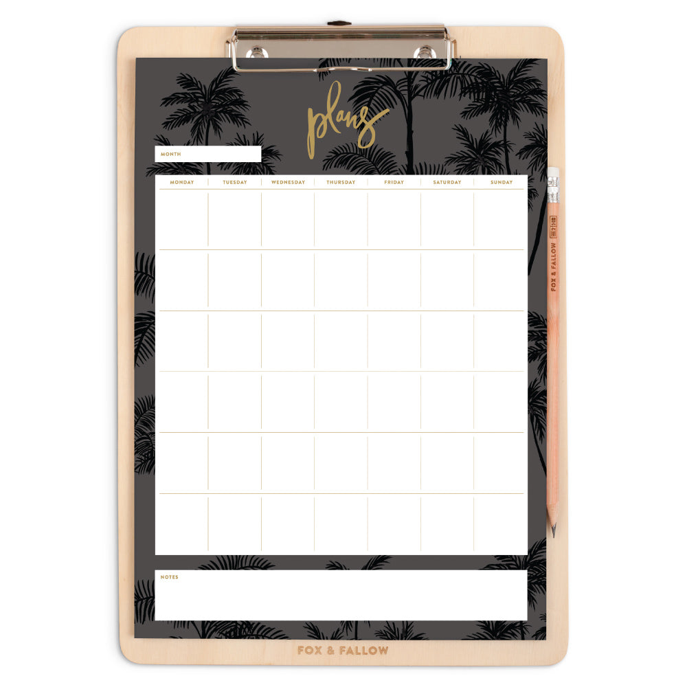 Night Palms A4 Clipboard Pack Fox and Fallow