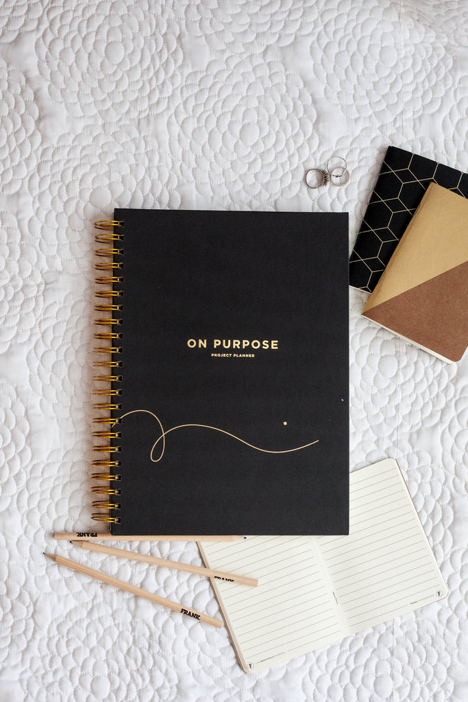 Frank Stationery On Purpose Project Planner - Black