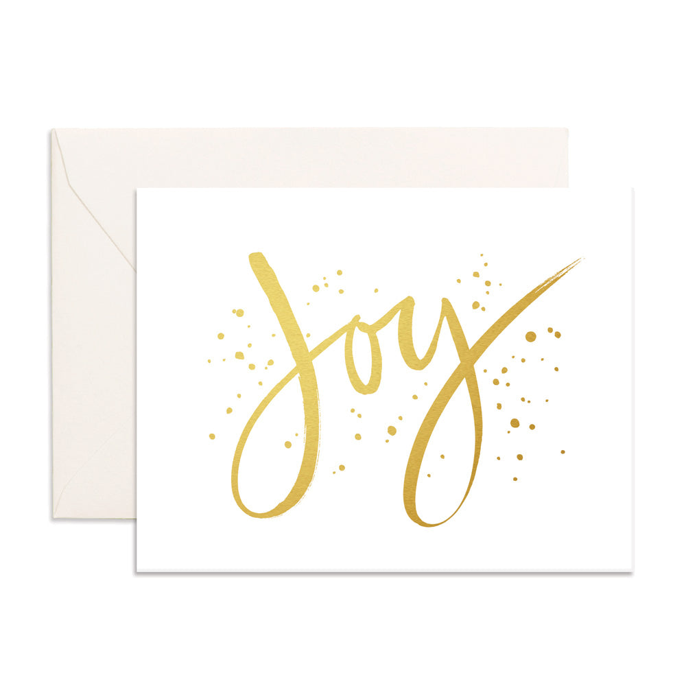 Joy Greeting Card Fox and Fallow