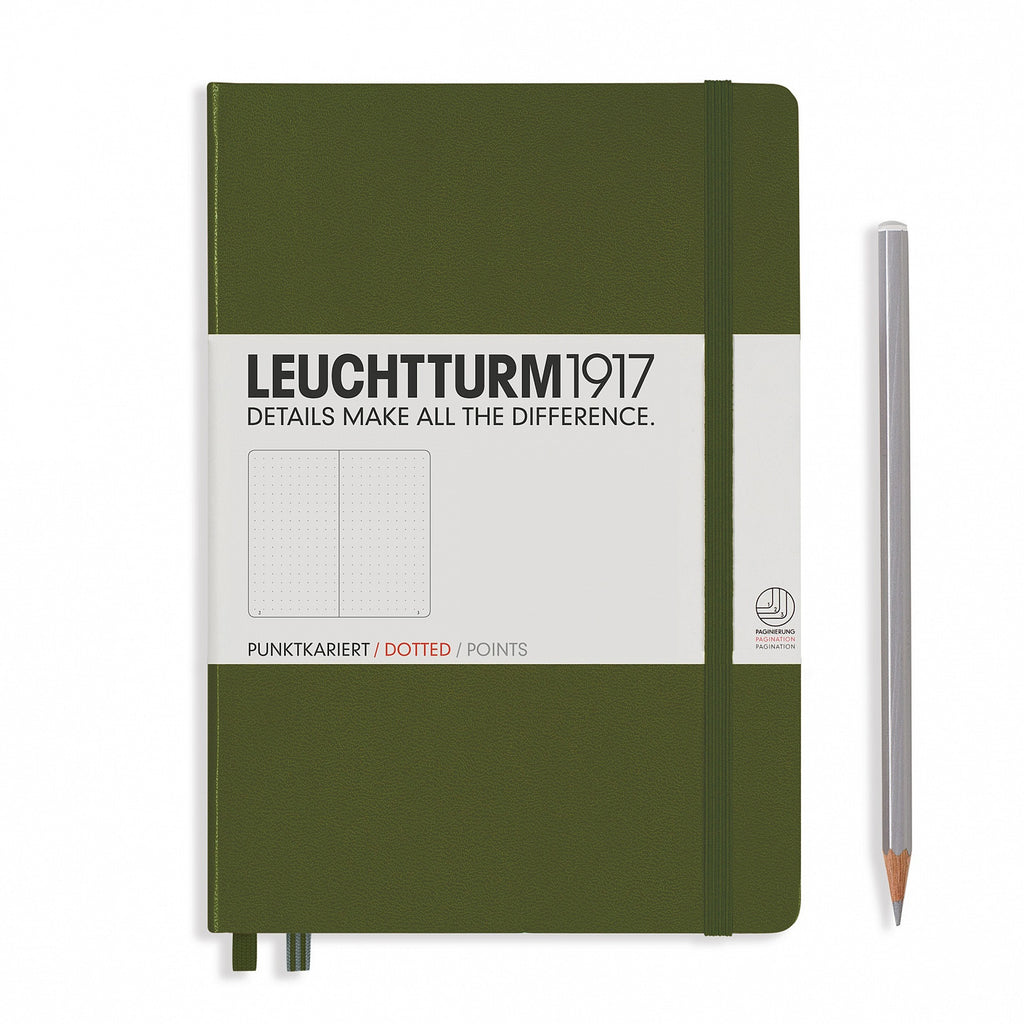 Leuchtturm1917 A5 Notebook Dotted - Army