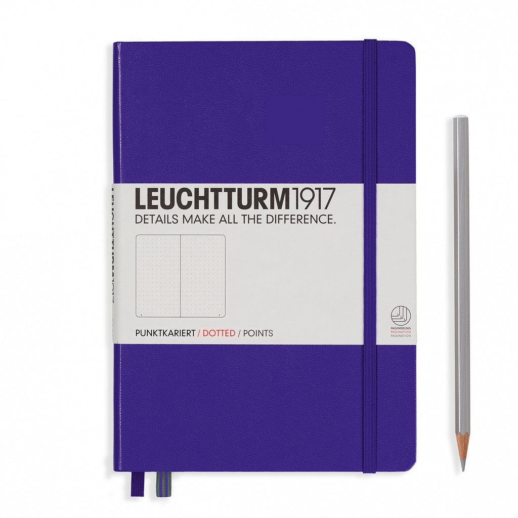 Leuchtturm1917 A5 Notebook - Purple dotted