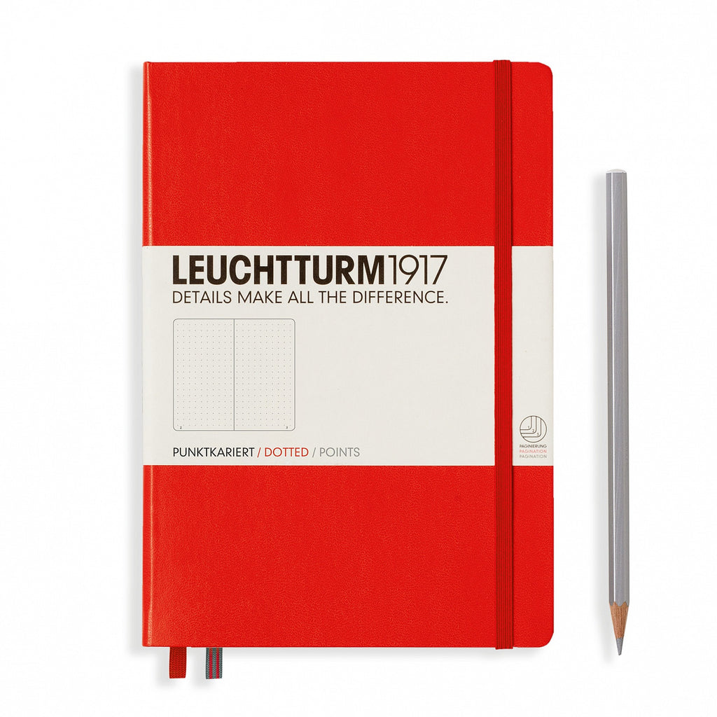 Leuchtturm1917 A5 Notebook - Red dotted