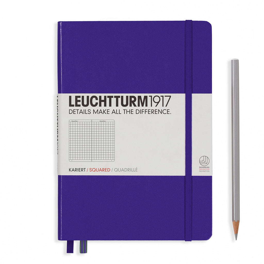 Leuchtturm1917 A5 Notebook - Purple square grid