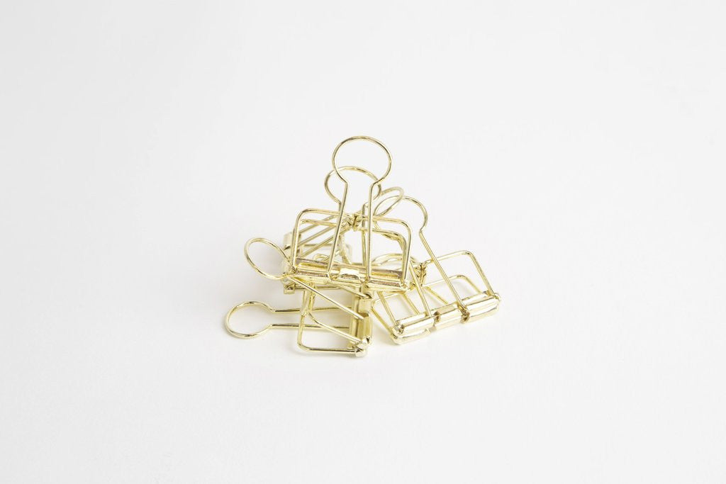 Gold Bulldog clips