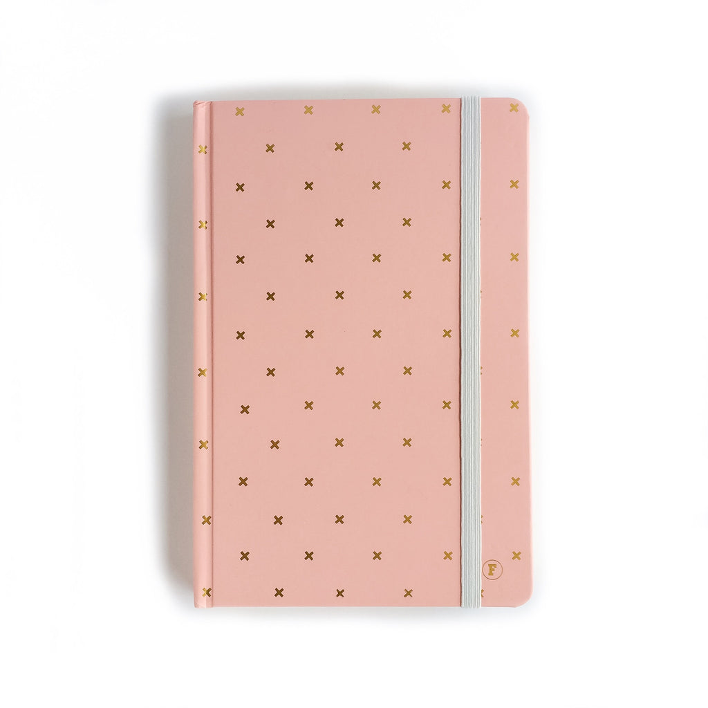 Frank Stationery A5 Pink and Gold Cross Journal
