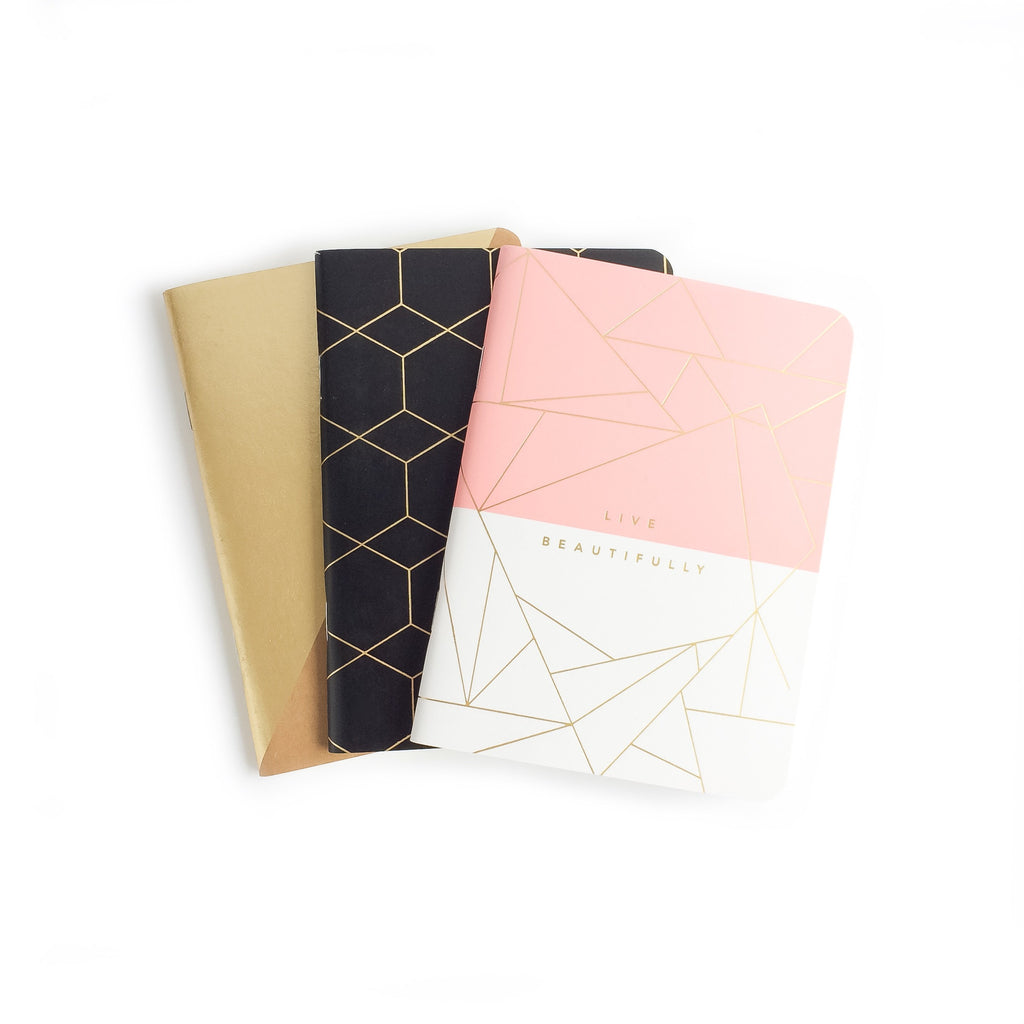 A6 Pocketbooks Notebooks - 3 Pack