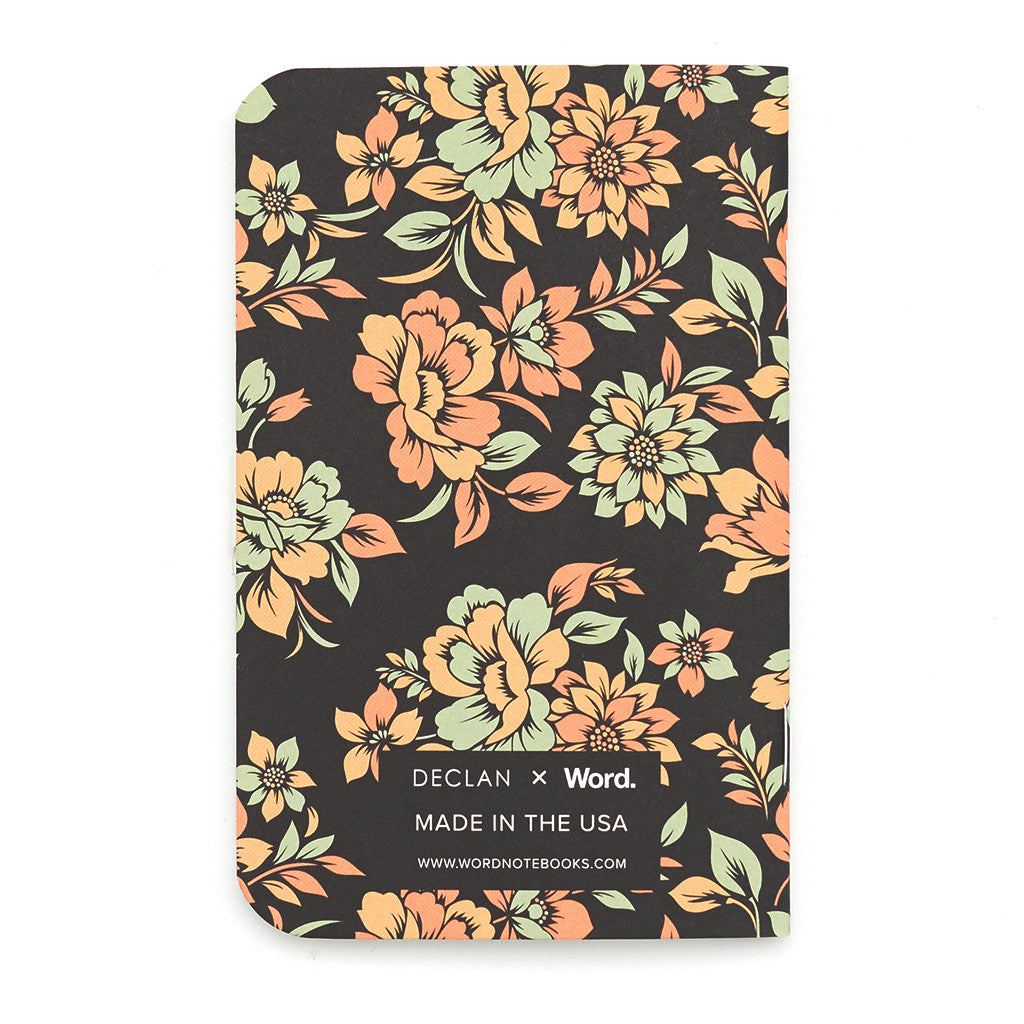 Word Notebooks Declan Floral - Pack of 3