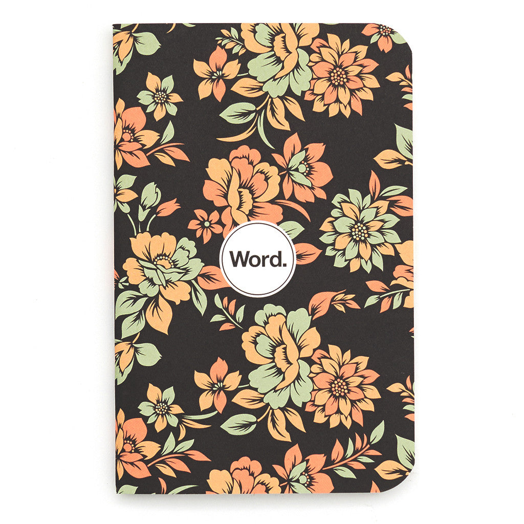 Word. Notebooks Declan Floral - Pack of 3