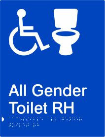 All Gender Accessible Toilet Right Hand Transfer