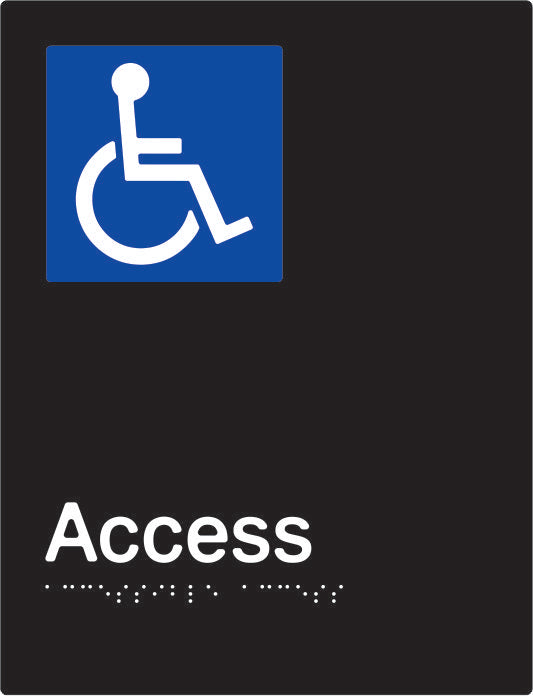 Accessible Access Braille and tactile sign (PBABk-AAccess)